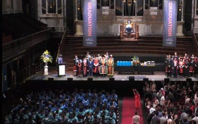블루마운틴 국제호텔경영 대학, 2020년도 상반기 졸업식 모습