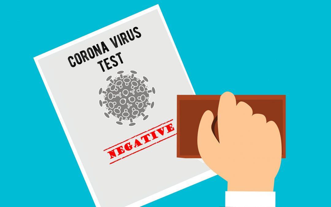 미국 입국시 COVID-19 음성 확인서 제출의무